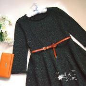 女士毛衣编织款式之棒针春夏七分袖连衣裙