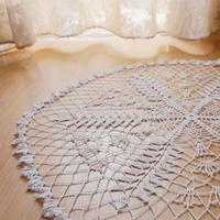 精致手工蕾丝编织之钩针六角花细蕾丝桌布图解教程