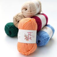 【花线.毛丝绒】10羊绒20真丝70澳毛 限量进口手编中粗高端毛线