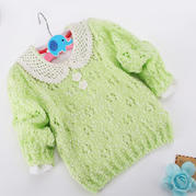 零基础教你织宝宝毛衣之萌点点儿童圆领套头毛衣织法视频教程(5-2)