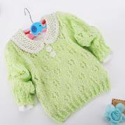 零基础教你织宝宝毛衣之萌点点儿童圆领套头毛衣织法视频教程(5-5)