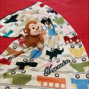 手工编织毯子之钩针车图案拼花童毯