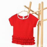 儿童毛衣编织视频之红色萌芽钩织结合春夏米妮裙(4-2)