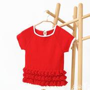 儿童毛衣编织视频之红色萌芽钩织结合春夏米妮裙(4-3)