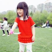 儿童棒针裙衣之萌芽从上往下织钩织结合米妮连衣裙