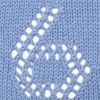 编织数字之棒针镂空0-9数字花样图案图解