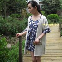 巧手妈咪手工编织女士毛衣款式之夏季白色短袖棒针蕾丝开衫