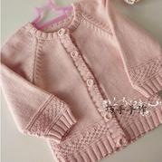 手编婴幼儿编织服饰之云棉2棒针插肩袖开衫毛衣