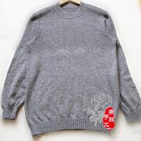 手编男式毛衣款式之棒针男士圆领羊绒套头毛衣