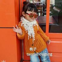 手编儿童毛衣款式之仿淘宝款文艺范棒针女童镂空开衫