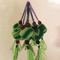 端午节小礼物之手工编织毛线钩针粽子