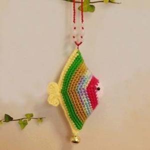 为2016年端午节准备香包之钩针彩鱼香包的钩法