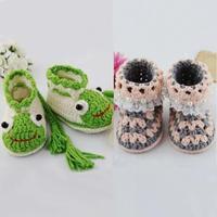 双层鞋底青蛙宝宝靴及珍珠蕾丝宝宝鞋视频教程(5-4宝宝鞋青蛙造型)