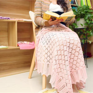 卡农皇室婴儿毯 萌芽机织手织相结合波浪边棒针毯奔驰娱乐