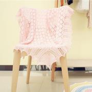 卡农皇室婴儿毯织法视频(3-2)萌芽手工棒针编织中心花样