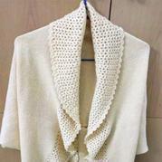 手工编织女士披肩款式之钩机结合可披可盖多用披肩