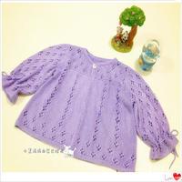 手工編織寶寶毛衣款式之棒針圓領裙式外搭小開衫