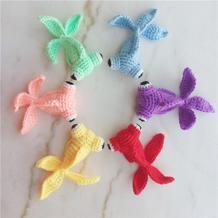毛线编织玩偶图解之小金鱼的钩法图解