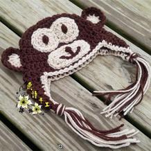 猴年编织猴帽之超详细图文教程教你钩婴儿钩针小猴护耳帽