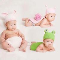 3款宝宝百天拍摄道具之帽子与兜兜裤编织视频教程(5-3)蜗牛款触角钩法