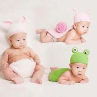 3款宝宝百天拍摄道具之帽子与兜兜裤编织视频教程(5-5)兔子款耳朵钩法