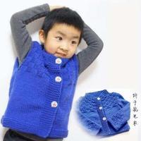 儿童手编毛衣款式之棒针饼干开襟毛衣与马甲织法视频教程(2-2)