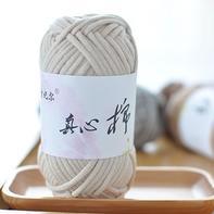 雪妃尔真心棉 灌芯线 棒针空心粗毛线围巾线/地垫坐垫线/包包线