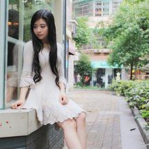 快乐编织机LK150机织手织结合淑女修身大摆连衣裙