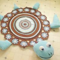 新手也可以轻松完成的毛线编织创意钩针地垫