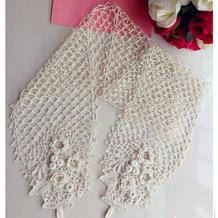 春夏编织之女士钩针爱尔兰蕾丝钩花围巾