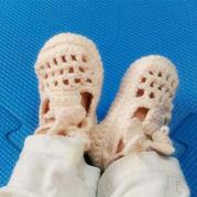 宝宝毛线鞋编织图解之一天就可完在的实用可爱精致钩针婴儿鞋