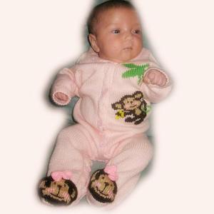超详细图文教程教你织猴宝宝开扣带鞋连体衣