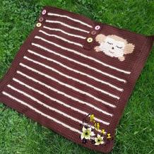 手工编织宝宝毯之可爱钩针小猴毛毯