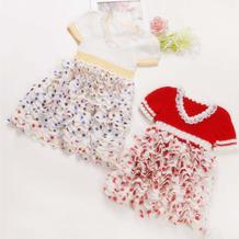 儿童春夏手编服饰之钩织结合花瓣纱V领短袖连衣裙视频教程(3-1)