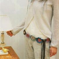 来一款创意钩针腰带装点这个夏季 新手也可以玩转的创意编织之腰带篇