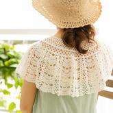 零基础钩针视频教程教你钩夏季美饰之扇形花样蕾丝披肩(2-2)
