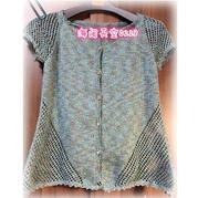 快乐编织机LK150机织作品之女士夏季凉爽小开衫