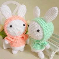 新手学钩玩偶编织视频之钩针戴帽子的情侣兔子(2-1)