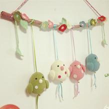 毛线玩偶编织图解之钩针可爱小肥鸟挂饰图解教程