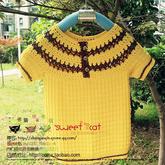 儿童春夏手编毛衣编织视频之钩织结合圆领小短袖(3-3)