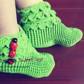 手工编织袜子视频教程教你钩成人款多层袜筒地板袜(2-2)