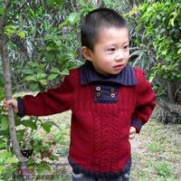 儿童毛衣编织视频教程之棒针男童翻领毛衣(6-3)