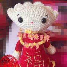 可爱的福饺娃娃钩针玩偶图解