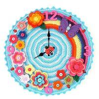 """""""时间""""也可以丰富多彩 毛线编织创意钟表装饰集锦"""