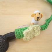 缝纫线钩针编织迷你小羊玩偶图解教程