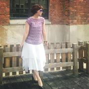 新手也可以轻松钩制的女士简单实用钩针夏季罩衫