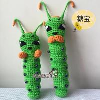 钩针毛毛虫糖宝的钩法(2-1)零基础毛线玩偶编织视频教程