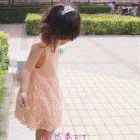 女童钩织结合菠萝花背心裙