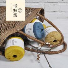 回归线【期待】100%丝光长绒棉粗带子线 扁带线/钩编线/纯棉线