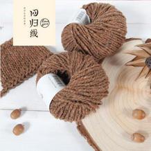 回归线【回首】彩点蚕丝羊毛线 手编中粗线/外套线/棒针线/粗毛线